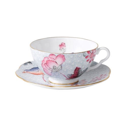 Cuckoo Tea Cup and Saucer Set in Blue