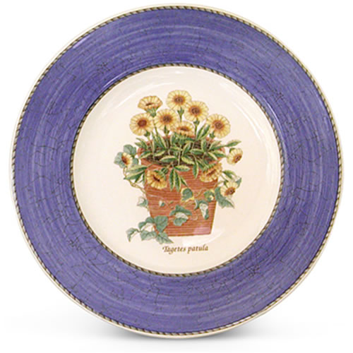 Sarah's Garden Entree Plate in Blue 20cm