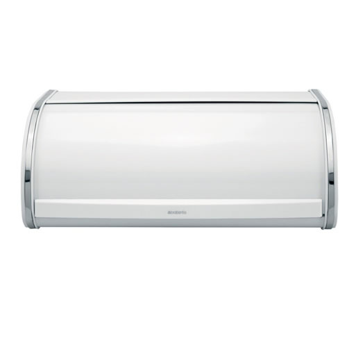 Bread Bin Roll Top Large White