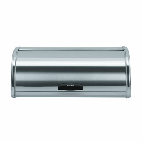 Bread Bin Large with Roll Top in Fingerproof Matt Steel