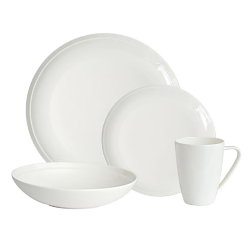Edge Bone China 16 Piece Dinner set in Gift Box - 4 place settings