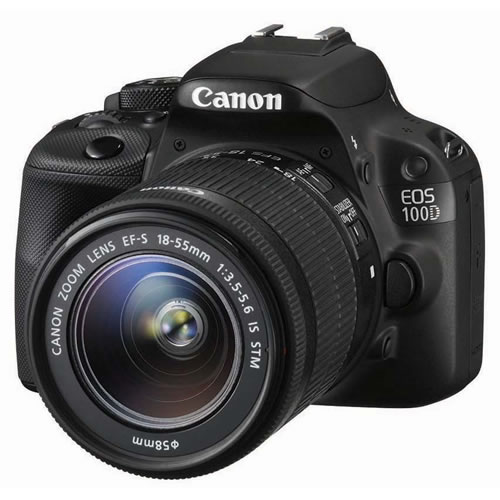 Canon EOS 100D 18MP Digital SLR Camera with Lens Black