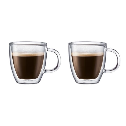 BISTRO Thermal Medium Cup with Handle Set of Two