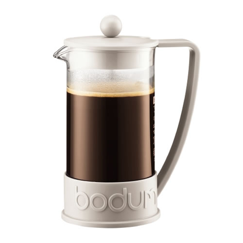 BRAZIL French Press Coffee Maker 8 Cup 1L in Off White