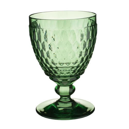 Boston Coloured Crystal Red Wine Goblet in Green 13.2cm