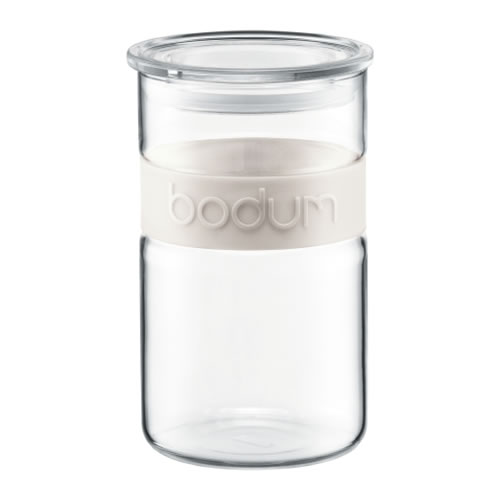 Colourpop Storage Jar 600ml with Silicone Band in Ivory