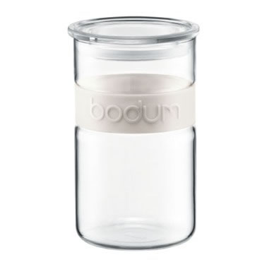 Colourpop Storage Jar 2.5L with Silicone Band in Ivory