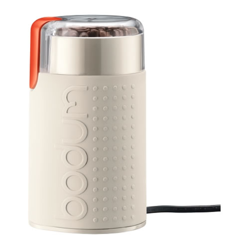 e-Bodum Bistro Electric Coffee Grinder in Off White