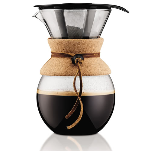 Pour Over Filtered Coffee Maker Cork 1L