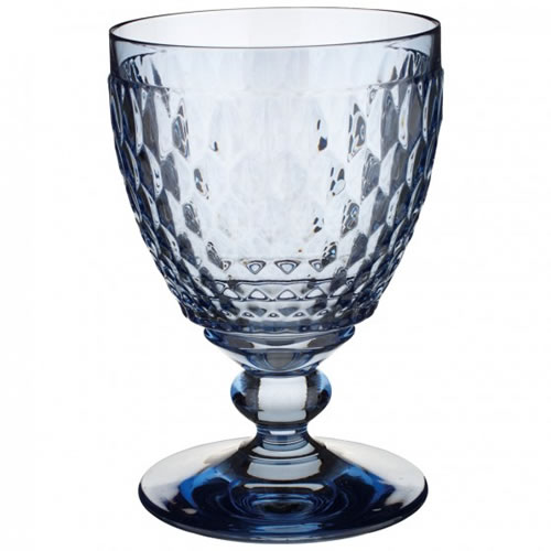 Boston Coloured Red Wine Goblet Blue Set