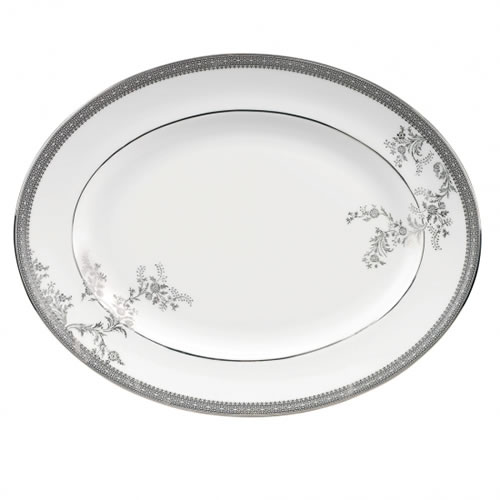Vera Lace Platinum Accessories Oval Dish 39cm