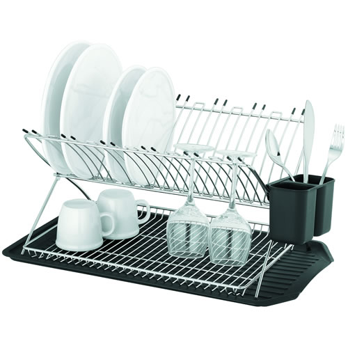 Inox Reno X Profile Two Tier Dish Rack