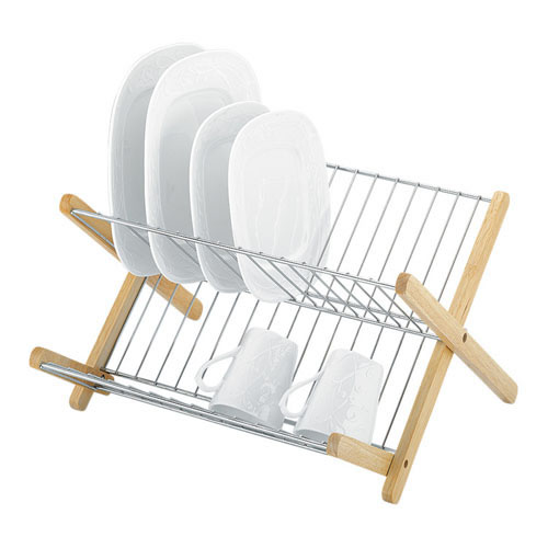 Monterey Wood and Chrome Dish Rack