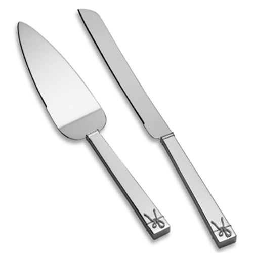 Vera Wang Love Knots Silver Plated Cake & Trowel Set