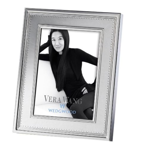 Grosgrain Silver Plated Frame 12.5 x 18cm To Fit 5x7 Photo