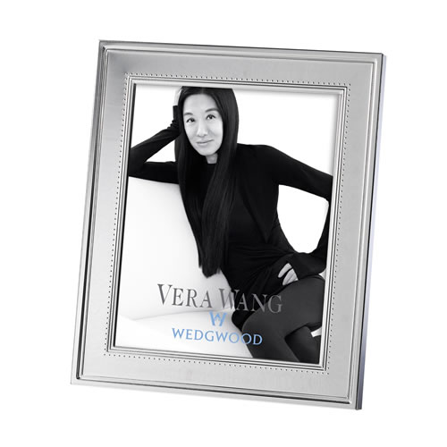 Grosgrain Silver Plated Frame 8x10