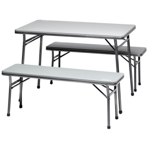Pack-away Table and Bench Set Grey