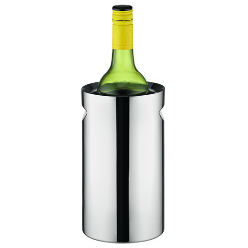 Twin Wall Wine Cooler with Indent Handles Mirror Finish