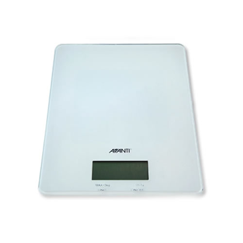 Digital Kitchen Scale in White
