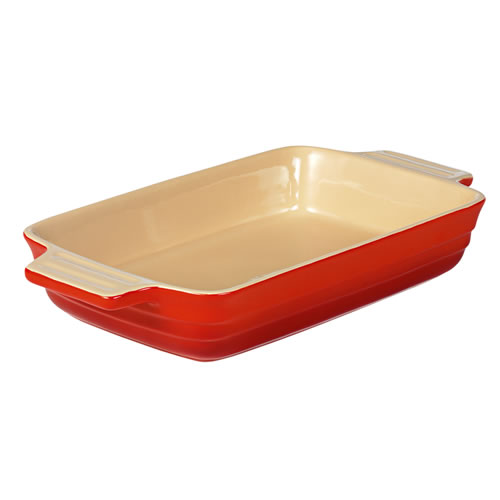 Large Rectangular Baking Dish 32cm in Federation Red