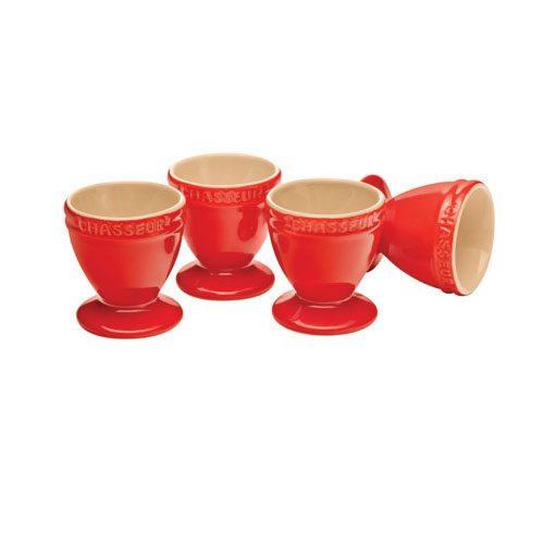 Egg Cup Set in Red