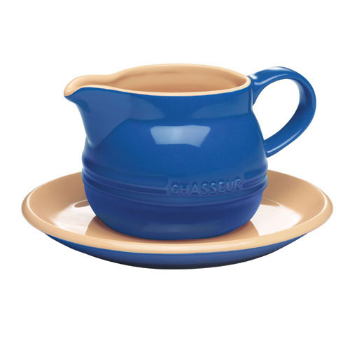 Gravy Boat with Saucer in Blue