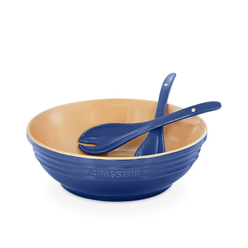 Round Bowl with Salad Servers