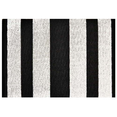 Utility Mat in Bold Black and White Stripe 61x91cm