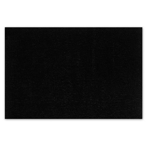 Door Mat in Solid Black 46x71cm