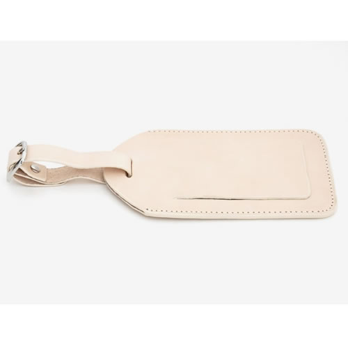 Basics Collection Luggage Tag in Natural Tan Leather