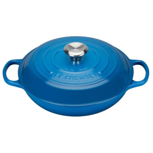 Marseille Blue Signature Shallow Casserole 22 plus a FREE PAIR OF SALT & PEPPER MILLS Valued at $130