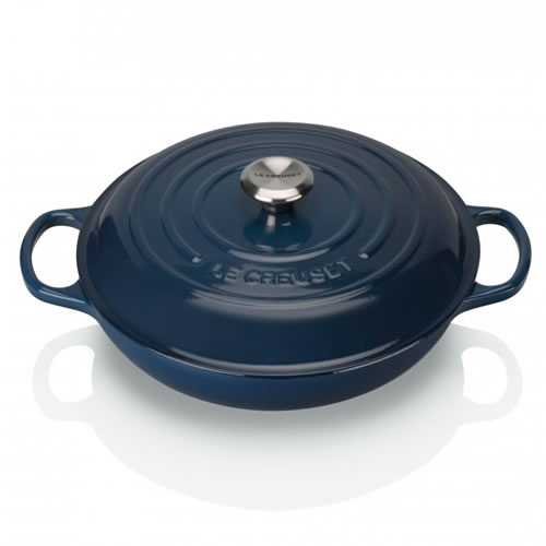 Ink Signature Shallow Casserole 30cm with SS Knob