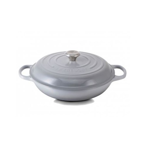 Mist Grey Signature Shallow Casserole 30cm plus a FREE PAIR OF SALT & PEPPER MILLS Valued at $130