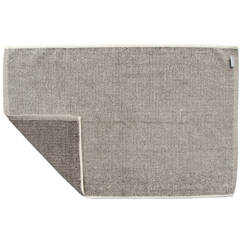 Beige Tweed Bath Mat