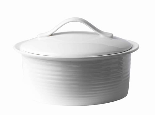 Gordon Ramsay Maze Covered Casserole 24cm in White