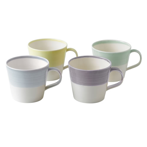 Royal Doulton 1815 Tapas Set Of 4 Mugs Cool Colours