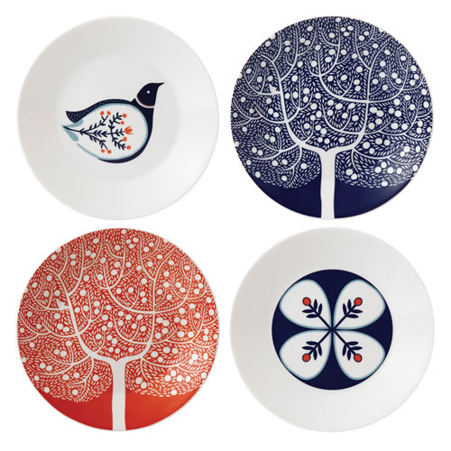 Fable Set Of 4 Accent Plates 16cm