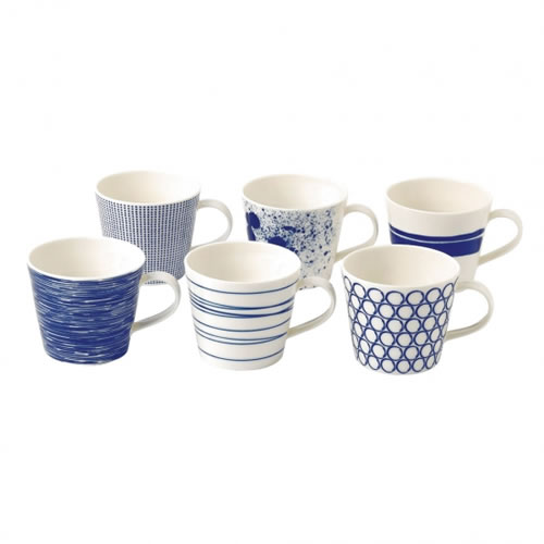 Pacific Set of 6 Mugs 390ml