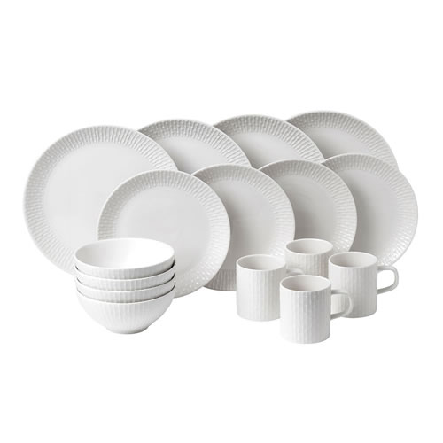 Royal Doulton Hemingway Design White 16 Piece Set