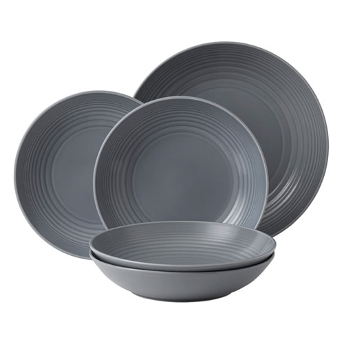 Maze Dark Grey 5 Piece Pasta Set