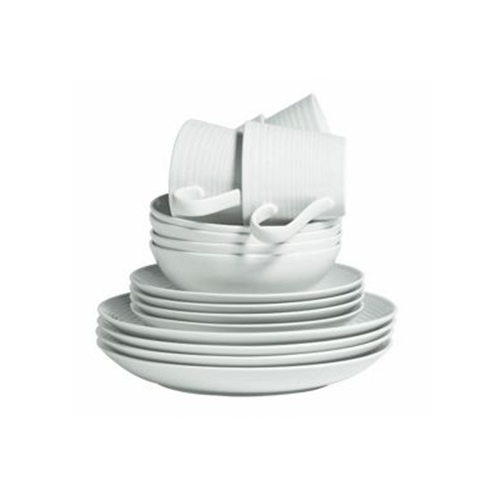 Maze 16 Piece Dinner Set in White