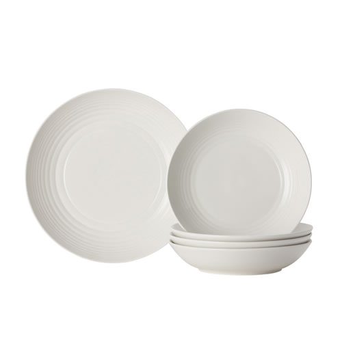 Maze 5 Piece Pasta Set in White