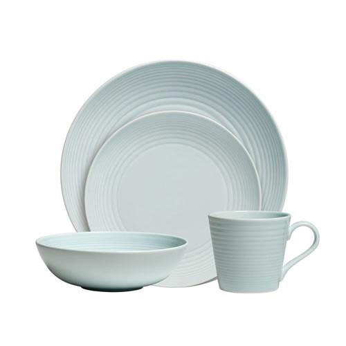 Maze 16 Piece Dinner Set in Blue
