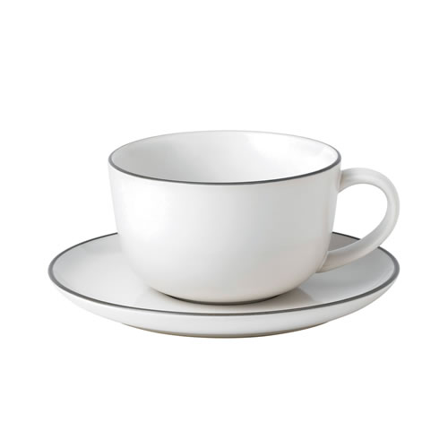 Bread Street White Breakfast Cup & Saucer 350ml