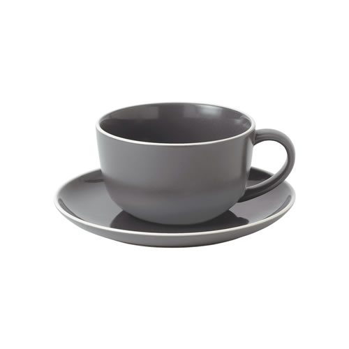 Bread Street Slate Breakfast Cup and Saucer 350ml