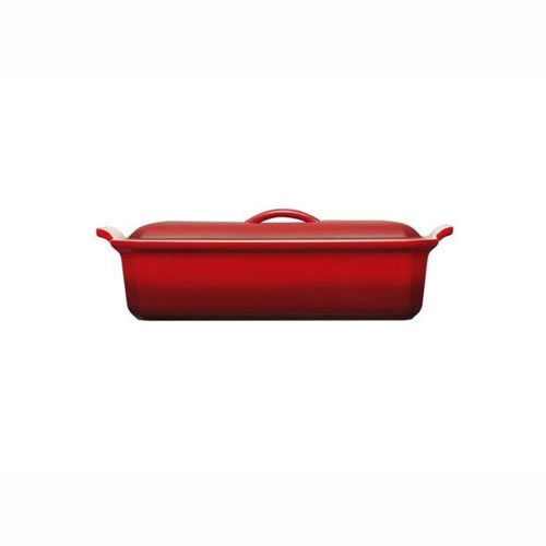 Cerise Rectangular Cast Iron Terrine or Loaf Baker 28cm