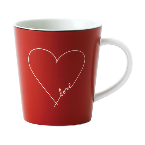 Red Heart Mug ED Ellen DeGeneres Crafted by Royal Doulton