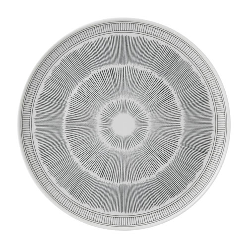 Charcoal Grey Lines Platter 32cm