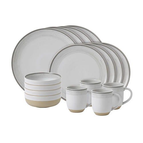 ED Ellen DeGeneres crafted by Royal Doulton collection - 16 Piece Set Brushed Glaze Soft White