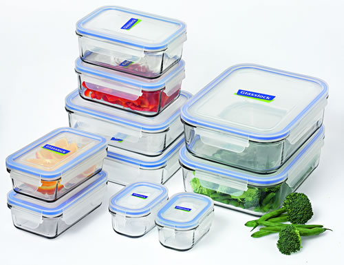 10 Piece Tempered Glass Storage Set